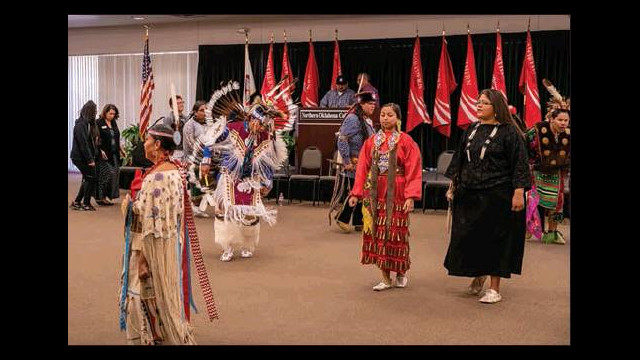 Native American Dance displayed during Heritage Month at Northern