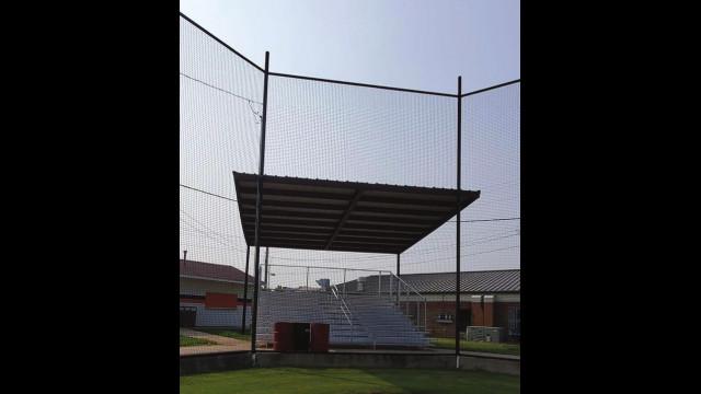 New softball bleacher cover