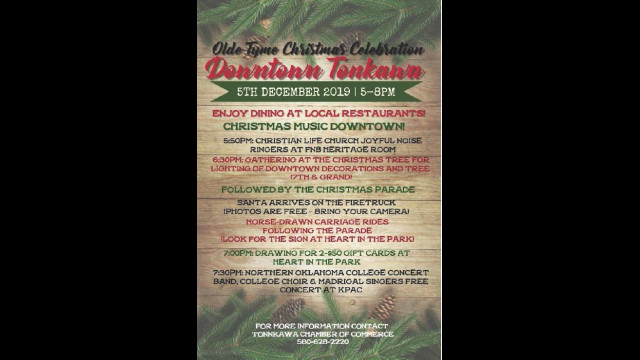 Come celebrate with Tonkawa! at annual 'Olde Tyme Christmas