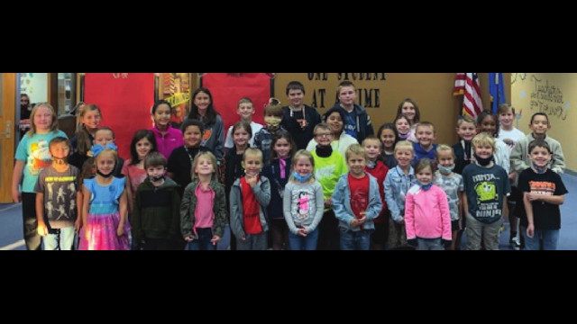 Top students at Tonkawa Elementary School