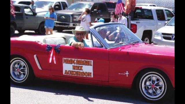 Parade marshall Rex Ackerson